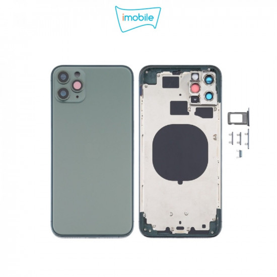(7273) iPhone 11 Pro Max Compatible Back Housing [no small parts] [Green]