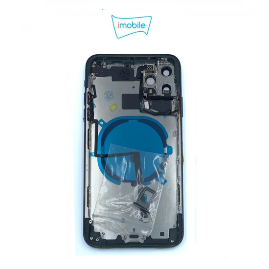 (7495) iPhone 11 Pro Max Compatible Back Housing [with Tested Button Flex and Brackets] [space grey]