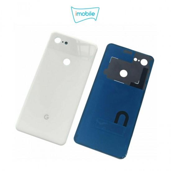(5257) Google Pixel 3 XL Back Glass Cover [White]
