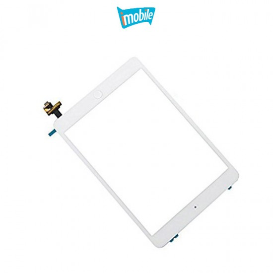 (a615) iPad Mini 1 / 2 Compatible Digitizer screen with home button and touch ic [White] Grade AAA [Include Adhesive]