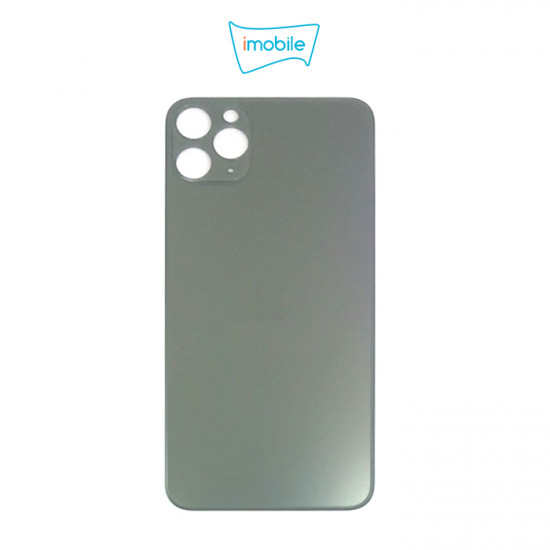 (6311) iPhone 11 Pro Max Compatible Back Cover Glass Big Camera Hole [Midnight Green]