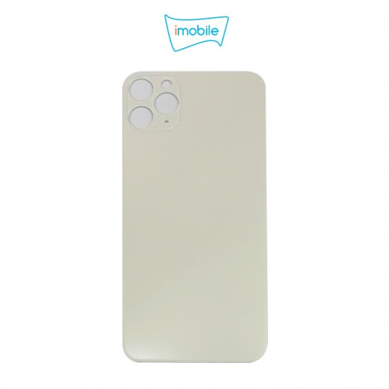 (6310) iPhone 11 Pro Max Compatible Back Cover Glass Big Camera Hole [Silver]
