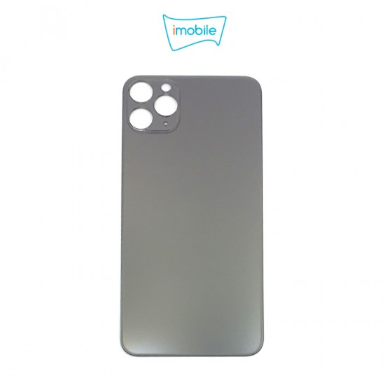 (6309) iPhone 11 Pro Max Compatible Back Cover Glass Big Camera Hole [Space Grey]