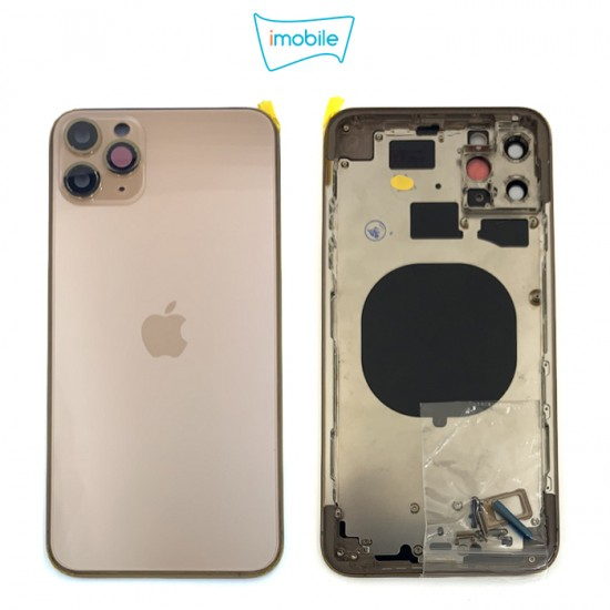 (7274) iPhone 11 Pro Max Compatible Back Housing [no small parts] [Gold]