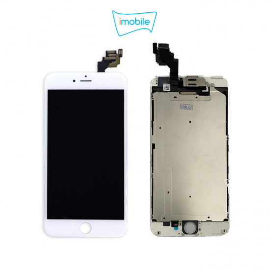 (6860) iPhone 6S Plus Compatible LCD Touch Digitizer Screen [IMB With Small Parts] [White]