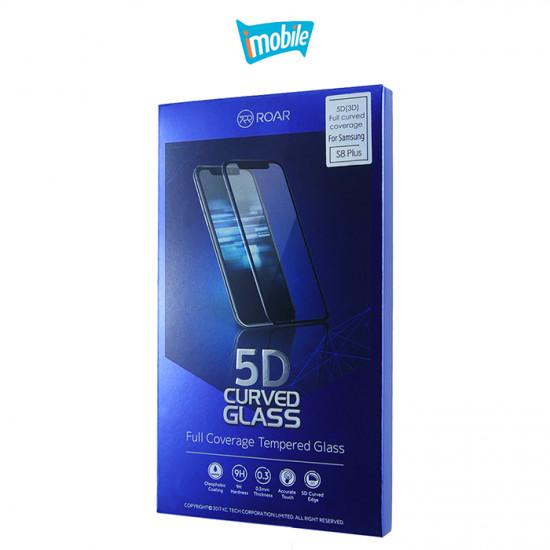 (4491) Roar 5D Full Coverage Tempered Glass for iPhone 6 Plus 6s Plus 7 Plus 8 Plus [Black]