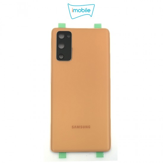 (7436) Samsung Galaxy S20 FE G781 Back Cover [High Quality with Lens] [Cloud Orange]