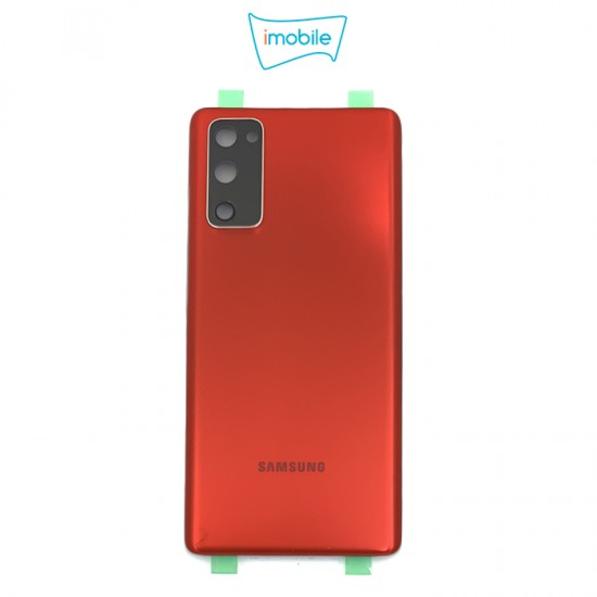 (7437) Samsung Galaxy S20 FE G781 Back Cover [High Quality with Lens] [Cloud Red]