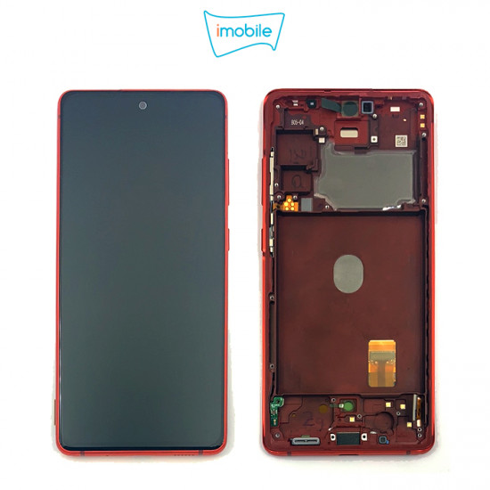 (7301) Samsung Galaxy S20 FE SM-G781B LCD Touch Digitizer Screen [Cloud Red] Service Pack